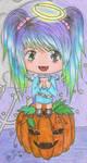 Me and my pumpkin by Mew-Aqua