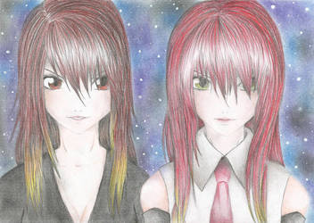 Aqua and Ruby by Mew-Aqua