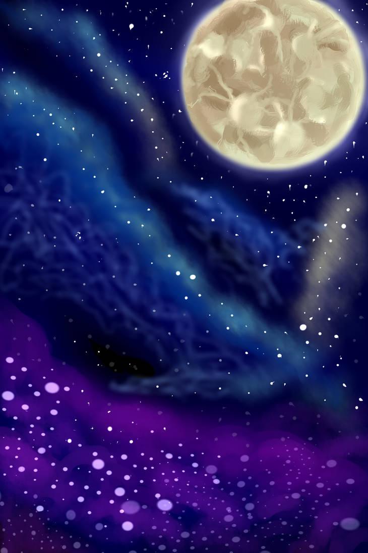 Night sky by Mew-Aqua