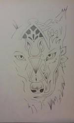 Wolf tattoo by Mew-Aqua