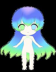 Aqua Chibi WIP by Mew-Aqua