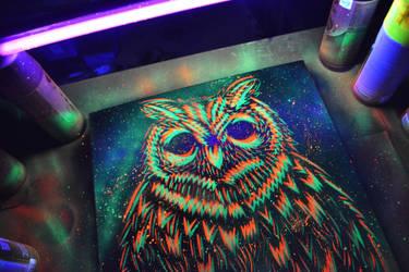 Glowing Owl by SimplySaraArt