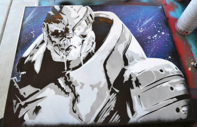 Mass Effect Garrus by SimplySaraArt