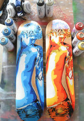 Custom Skateboards! by SimplySaraArt