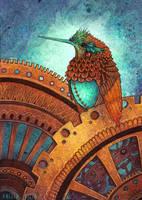 The Clockwork Hummingbird by AngelaRizza