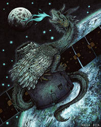The Dragon Satellite by AngelaRizza