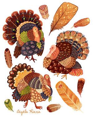 Turkey Gobblers by AngelaRizza