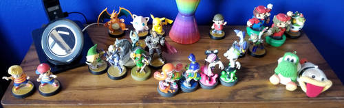 My amiibo *update* by Latiosdude