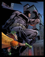 Dark Knight and Robin by Pask