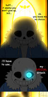 Sans' special attack by adricarra