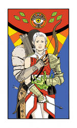 Lavellan Tarot Card by shortfury
