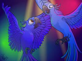 Rio: Blu and Jewel by Ayemae