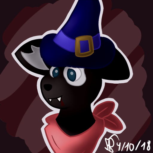 [Fursona Headshot] Halloween Time! ^w^ by Sheinxy