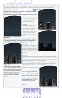 Pixel Art - City skyline tutorial by MsMellaa