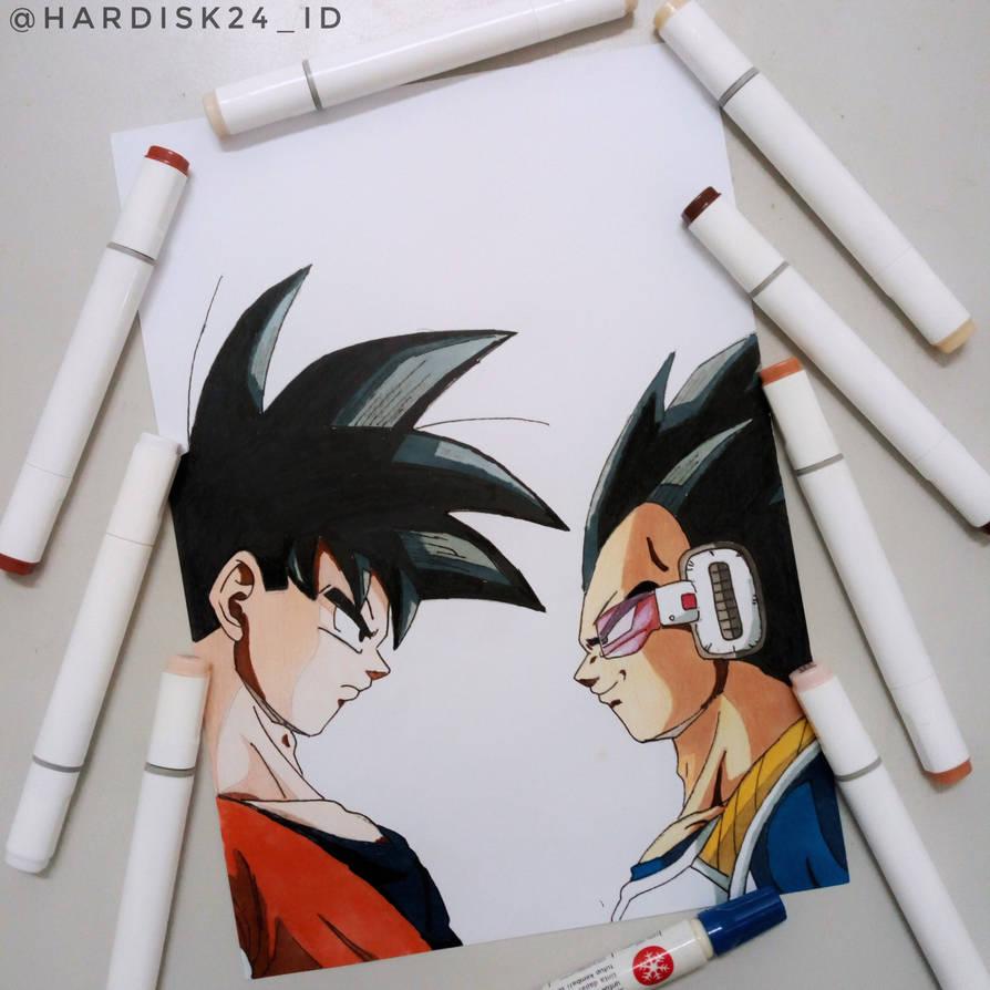 Goku Vs Vegeta By Hardisk24 On Deviantart