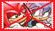 Anti Knuckles x Julie-su Stamp by anastasiathefox1