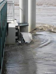 Boat trapped, Brisbane River by jane-mirage