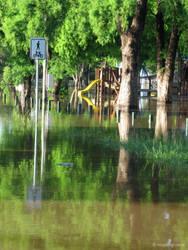 Windsor Park in flood by jane-mirage