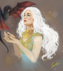Mother of Dragons - Game of Thrones by AmaAmaLeeLee