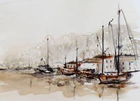 Watercolour exercise by szklanytygrys