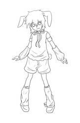 Bunny boy lineart by Otackoon
