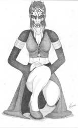 Kneeling by Nightmare666Maiden