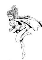 Supergirl inks by Fendiin