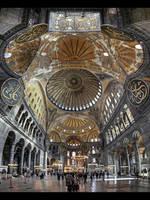 Under the Dome of Hagia Sophia by erhansasmaz