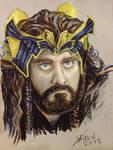 Goldsick!Thorin in oil pastel by Miruna-Lavinia