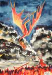 Smaug And Bard by Miruna-Lavinia