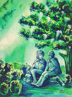 Hobbits resting by Miruna-Lavinia