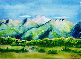 Ered  Nimrais (west of Gondor) by Miruna-Lavinia