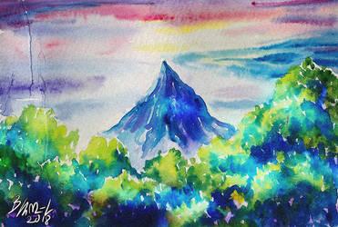Behind the trees - Erebor by Miruna-Lavinia