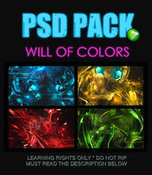 7th PSD Pack - Will of Colors by SeventhTale