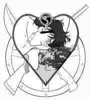 Steel and Gunsmoke Valentine by Amberguesa