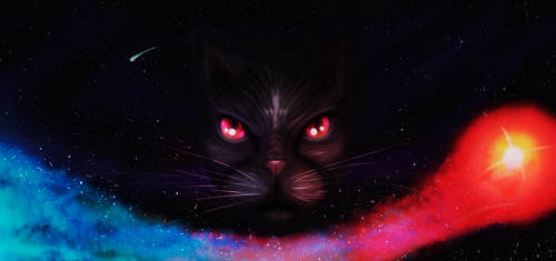 Cat of Lucifer by MuteAllOnlyMeow