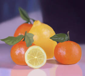 Citrus Fruit by Mischavie