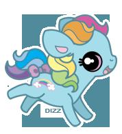 MLP - G3 Rainbow Dash by dizziness
