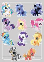 Pudgy Pony - FiM cuties by dizziness
