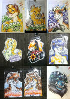 Conbadges from 2014 - part02 by dizziness