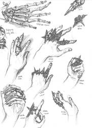 Study of Hands--October 2014 by Vampiressartist