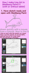 Tutorial for Line Art in Medibang Paint by crochetamommy