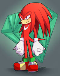 Knuckles The Echidna by Dimyrax