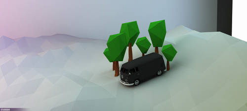 Low poly Scene by Gelbaxa