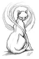 Cat by saarakala