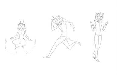 [doodles] Leonard Pose's by FTLmech-hound