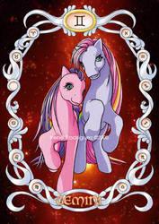 Zodiac Ponies - Gemini by WhiteNenufar