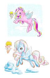 Commission: Celestial Pegasus by WhiteNenufar