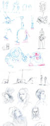 Sketchdump July 2013 by rogueXunited