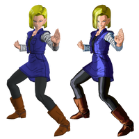 Android 18 from Dragon Ball XenoVerse XPS by wadamen